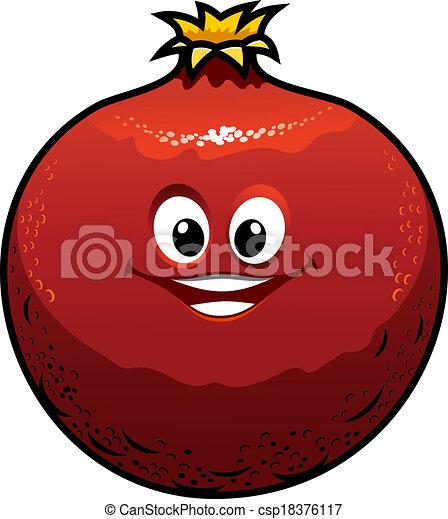 Cartoon Images of Pomegranate Red Cartoon Pomegranate Cute