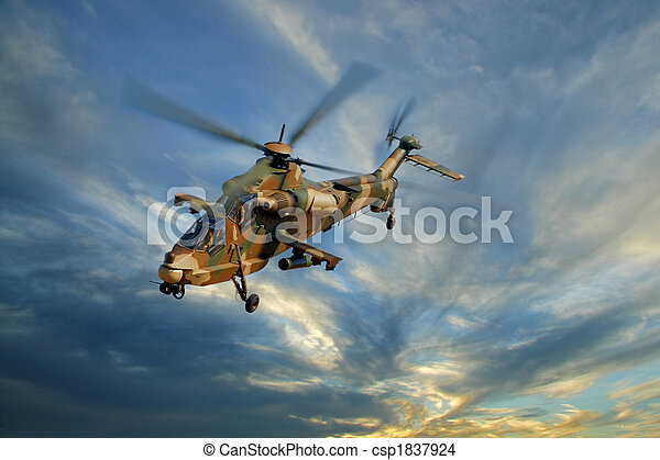 Military helicopter - csp1837924