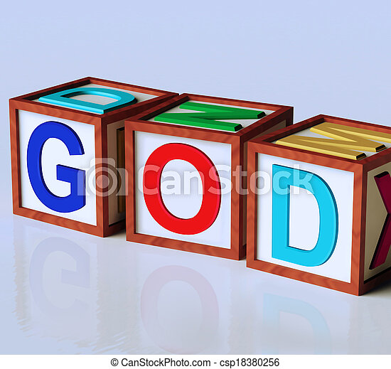 God Blocks Show Spirituality Religion And Believers - csp18380256