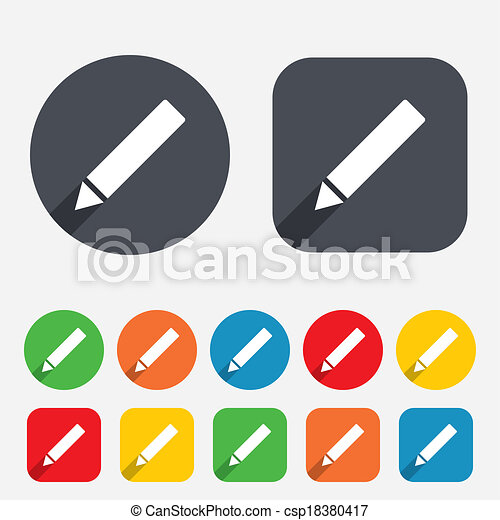 Clipart de crayon, éditer, bouton, signe, contenu, icône - crayon ...