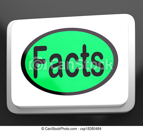 Facts Button Shows True Information And Data - csp18380484