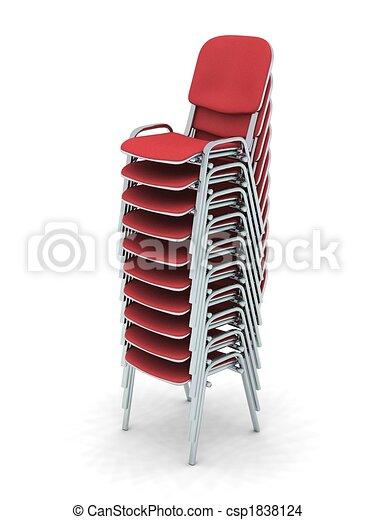 Illustration empil chaises banque d 39 illustrations for Comment dessiner une chaise