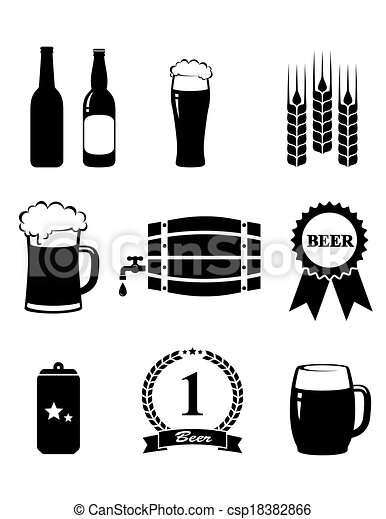 set of beer icons - csp18382866