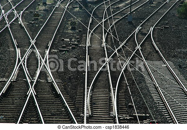 Railroad tracks and Switches - csp1838446