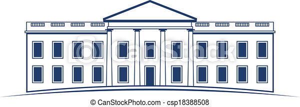 White House Drawing Vector Logo White House