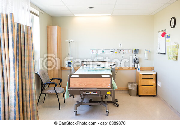 Plaatje van ziekenhuis stoel kamer bed interieur van ziekenhuis csp18389870 zoek - Stoel volwassen kamer ...