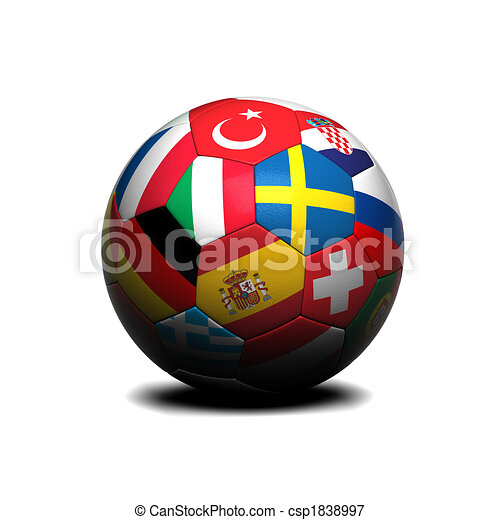 European soccer ball - csp1838997