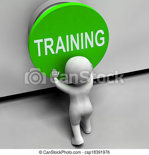Training Button Means Education Induction Or Seminar - csp18391976