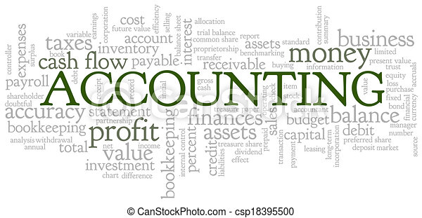 Vector Clipart of Accounting Word Cloud Word Bubble tags vector ...