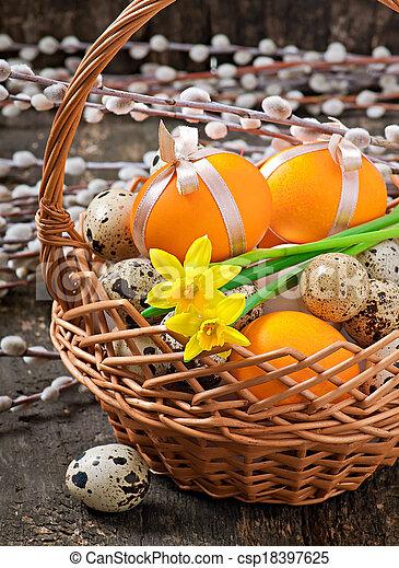 蛋, 復活節, 鮮艷 - csp18397625
