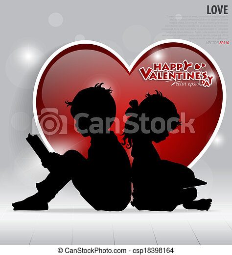 Valentine's Day card. Vector illustration. - csp18398164