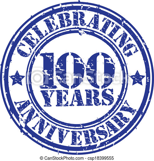 Clipart Vector of Celebrating 100 years anniversary grunge ...