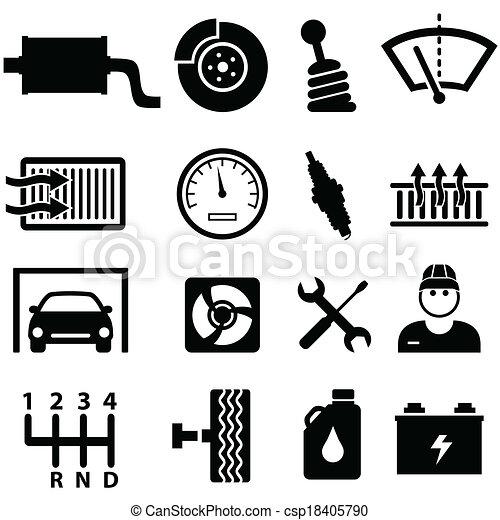 汽车, 修理, 技工, 图标