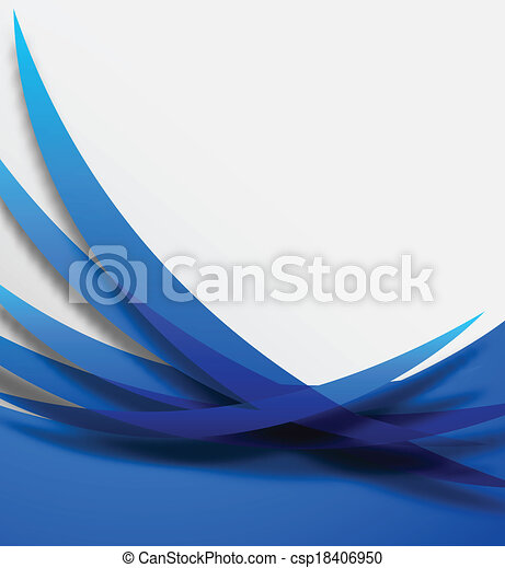 Abstract blue background - csp18406950