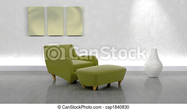 contemporary arm chair  - csp1840830