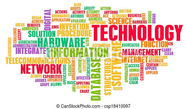 tecnologia, parola, nuvola - csp18410097
