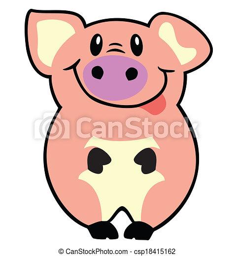 Clipart vettoriali di cartone animato maiale cartone - Cartone animato immagini immagini fantasma immagini ...