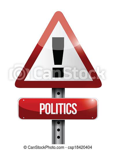 politics warning illustration design - csp18420404