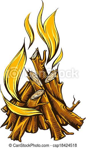 vektor clip art von feuer  feuerholz  flamme  lagerfeuer campfire clip art free images campfire clip art vbs