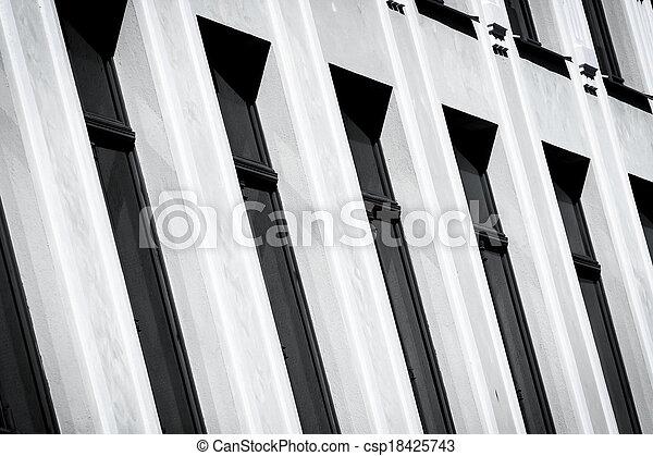 Photo de mur fenetres blanc noir urban vue ville for Fenetre noir et blanc