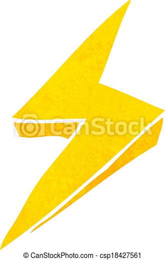 Clip art vecteur de dessin anim clair boulon symbole - Eclaire dessin ...