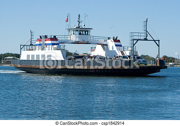 Stock Photo of Ferry Boat - Public Car Ferry Boat Crossing ...