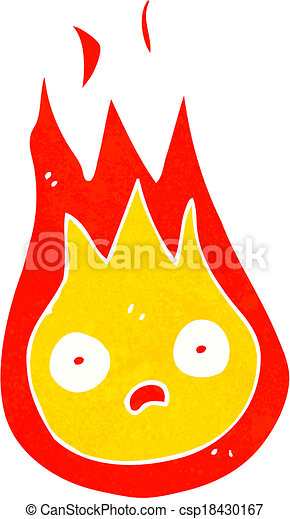 Clip Art Vector of cartoon friendly fireball csp18430167 - Search ...