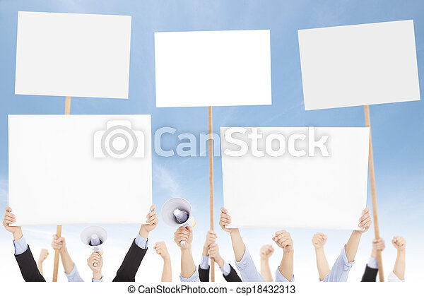 protested, 人們, 人群, 政治, 針對, 社會問題, 或者 - csp18432313
