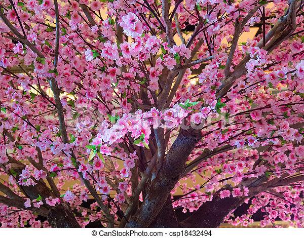 Banque de photographies de rose fleur cerise arbre - Arbre japonais rose ...
