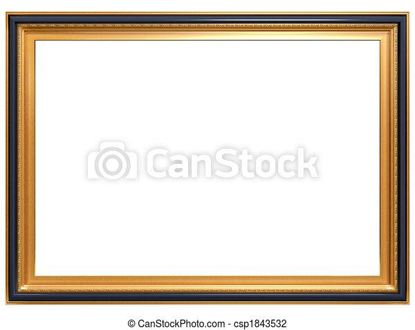 Rectangular antique picture frame - csp1843532