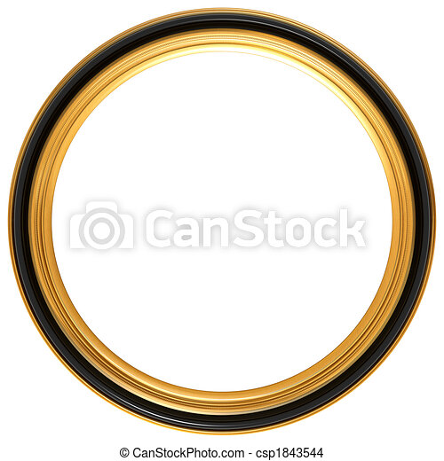 Circular antique picture frame - csp1843544