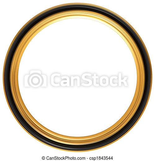 Circular antique picture frame - csp1843544
