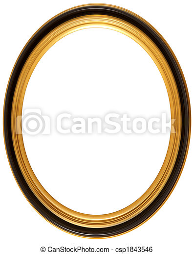 Oval antique picture frame - csp1843546