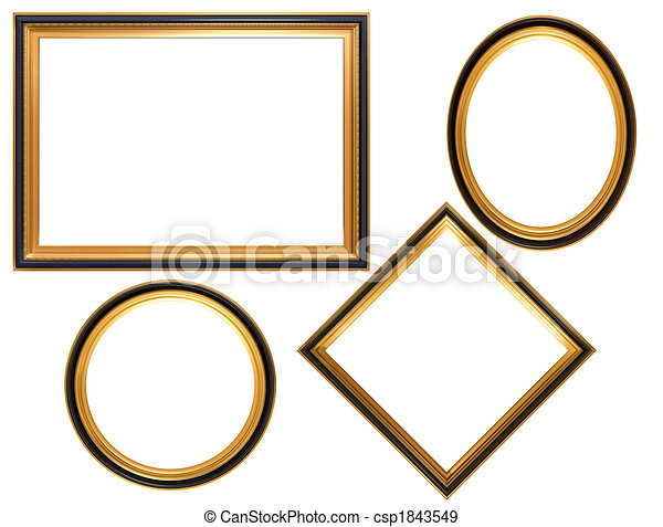 Collection of antique picture frames - csp1843549