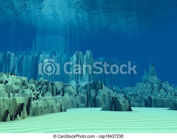 Drawings Of 3D Ocean Floor Csp18437238