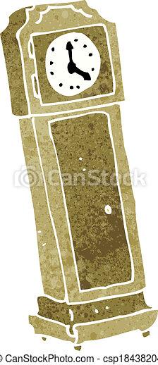 Vector Clipart of cartoon grandfather clock csp18438204 - Search ...