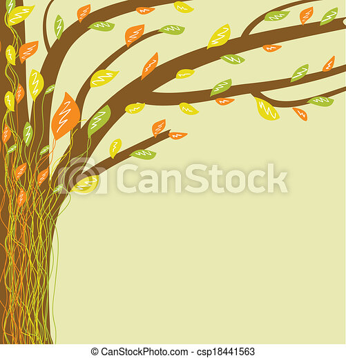 Abstract tree of life. Vector illustration in soft colors - csp18441563