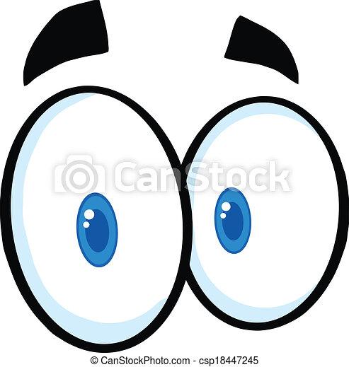 EPS vector de lindo, ojos, caricatura - lindo, caricatura, ojos ...