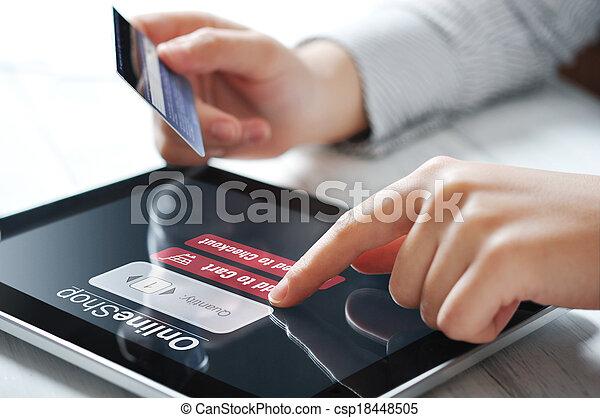 begriff, Zahlung,  online - csp18448505