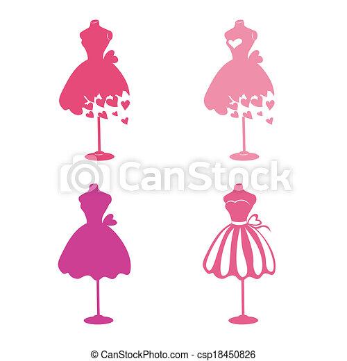 Illustration Vecteur de robe, mannequins csp18450826 - Recherchez des ...