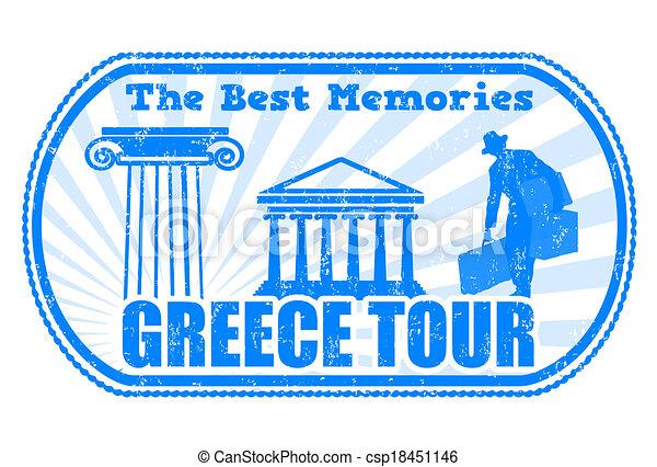 Greece tour stamp - csp18451146
