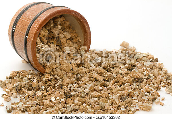 Vermiculite used in potting plants - csp18453382