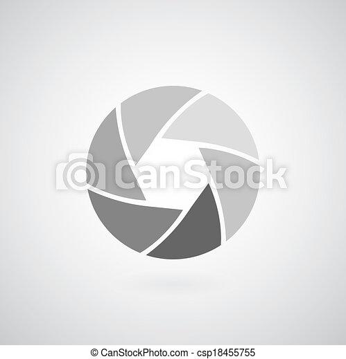 camera objective icon - csp18455755