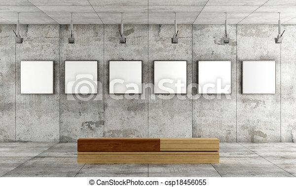 Contemporary art gallery - csp18456055