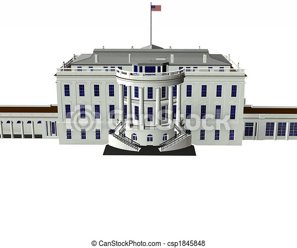 White House Drawing White House 3d Model