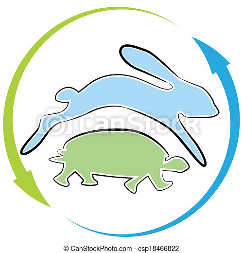 Tortoise Hare Race Cycle - csp18466822