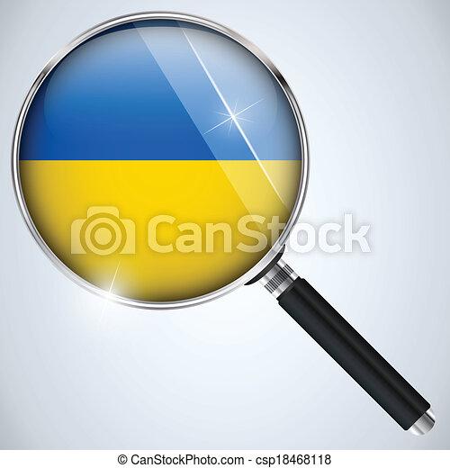 NSA USA Government Spy Program Country Ukraine - csp18468118