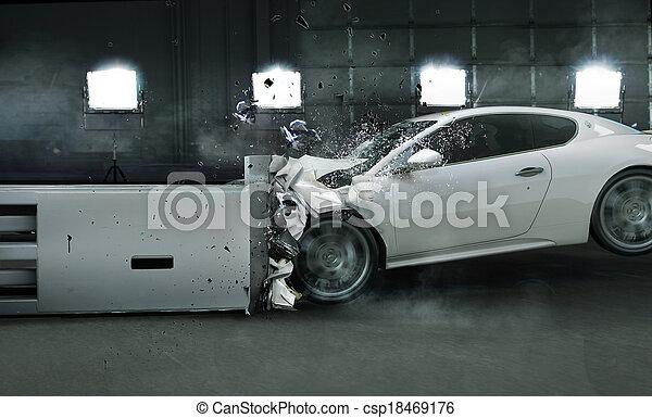 Art photo of crashed car - csp18469176