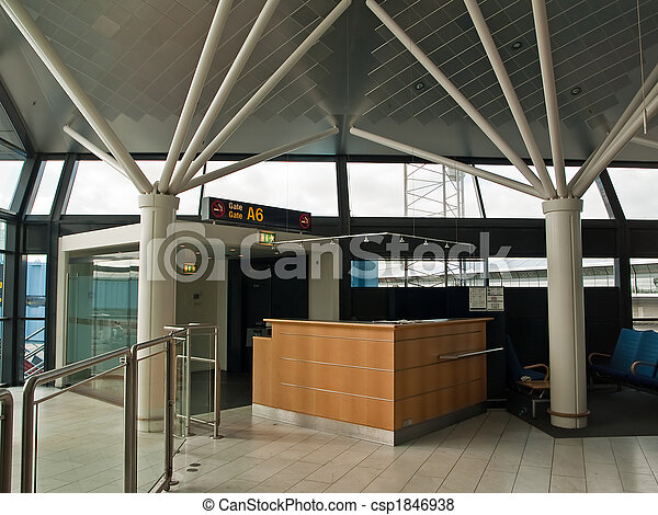 Airport Check-in counter gate - csp1846938