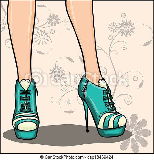 Fashion Boots Drawing Ankle Boots Card or